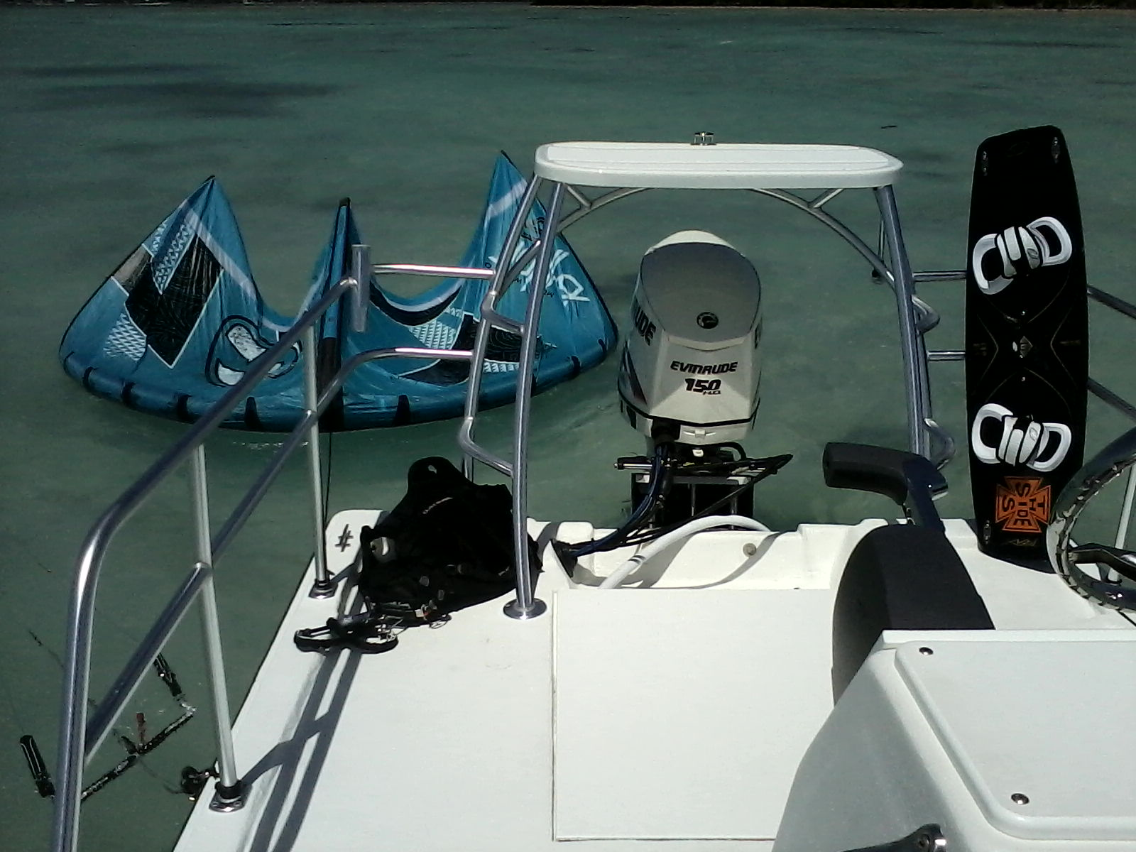 How to set up from a boat