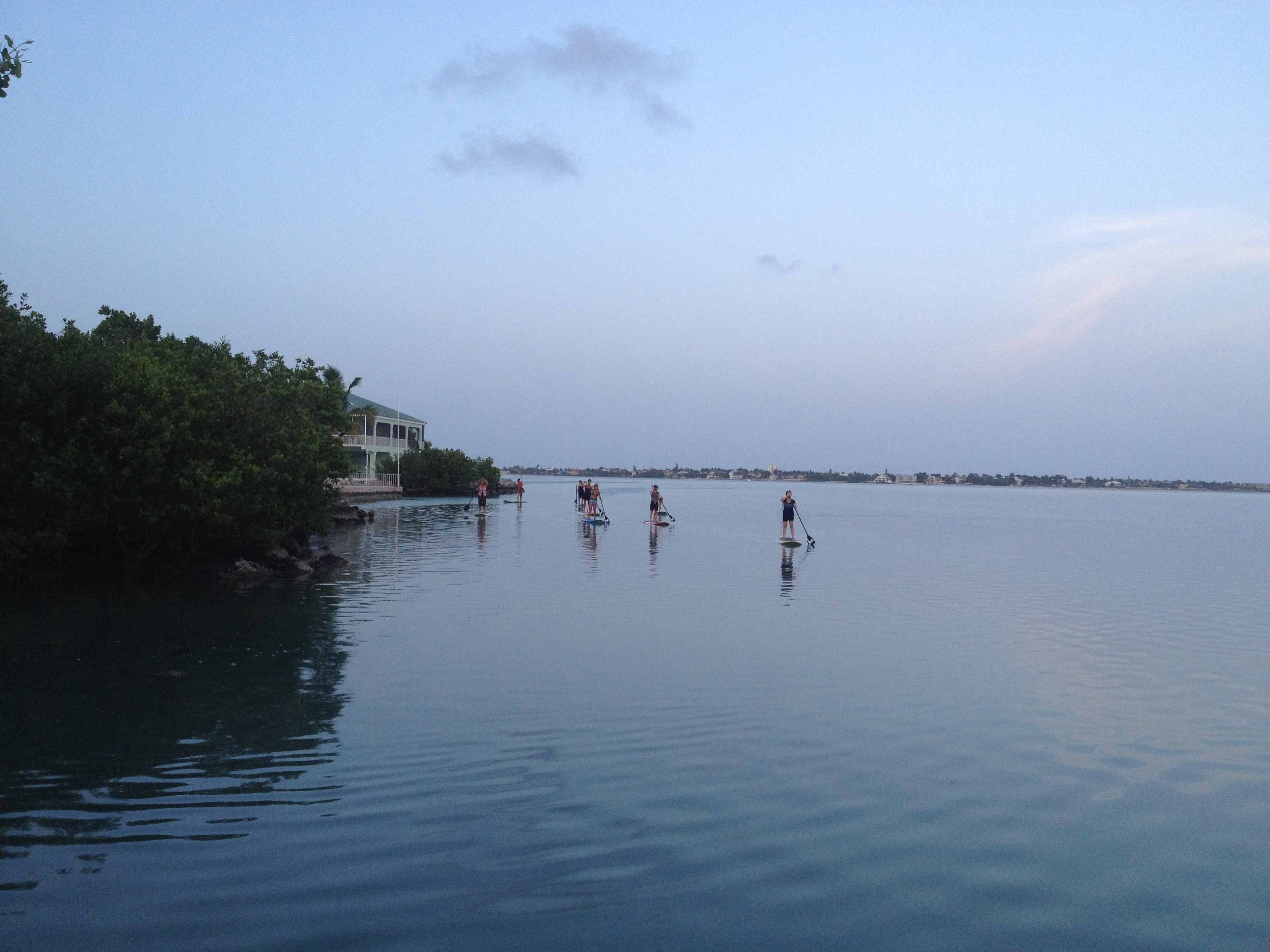 A nice paddle back from SUP Yoga