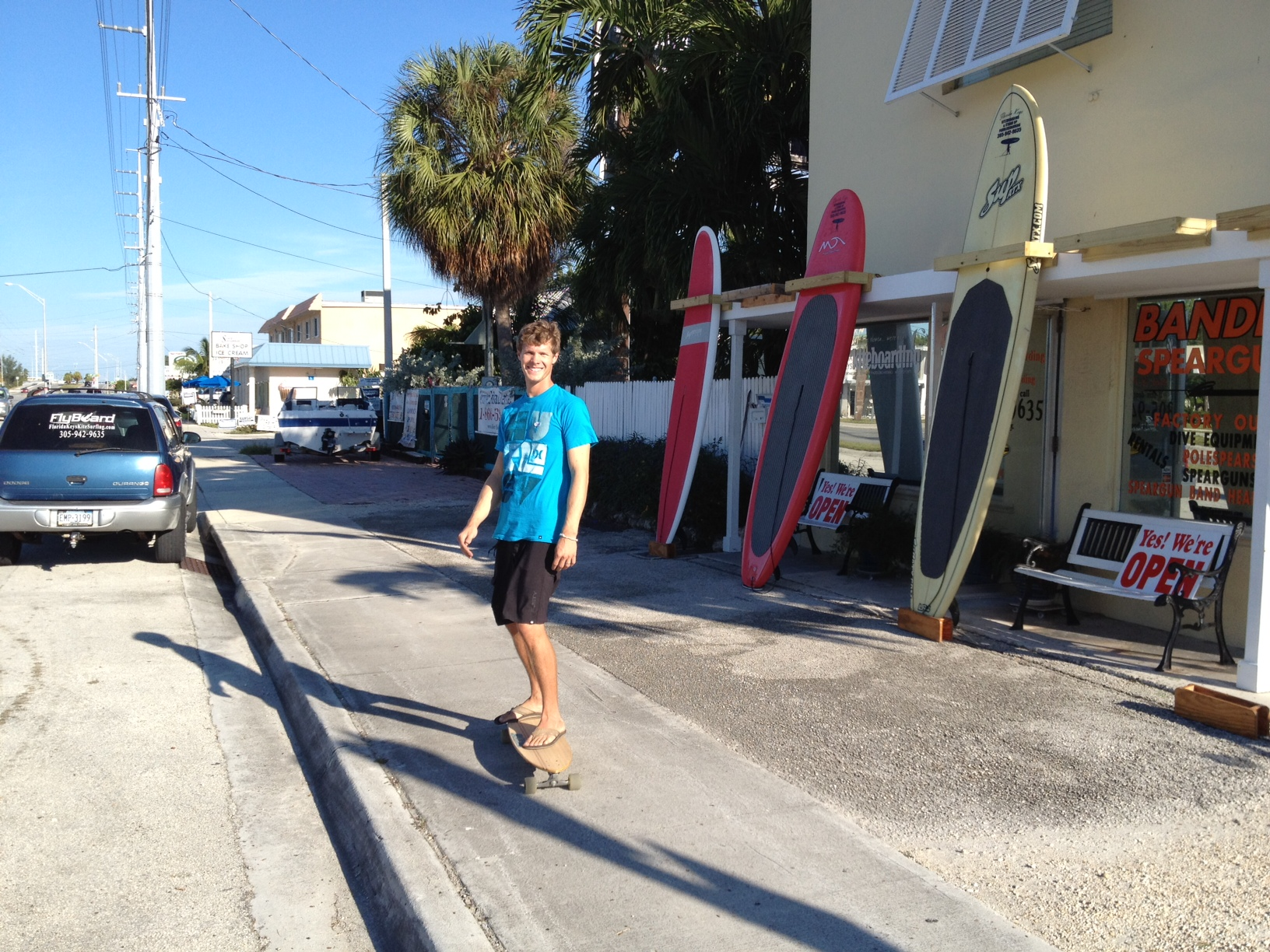 On the skateboard in Marathon Florida