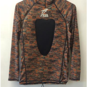 IST Camouflage Hooded Rash Guard with chest gun pad